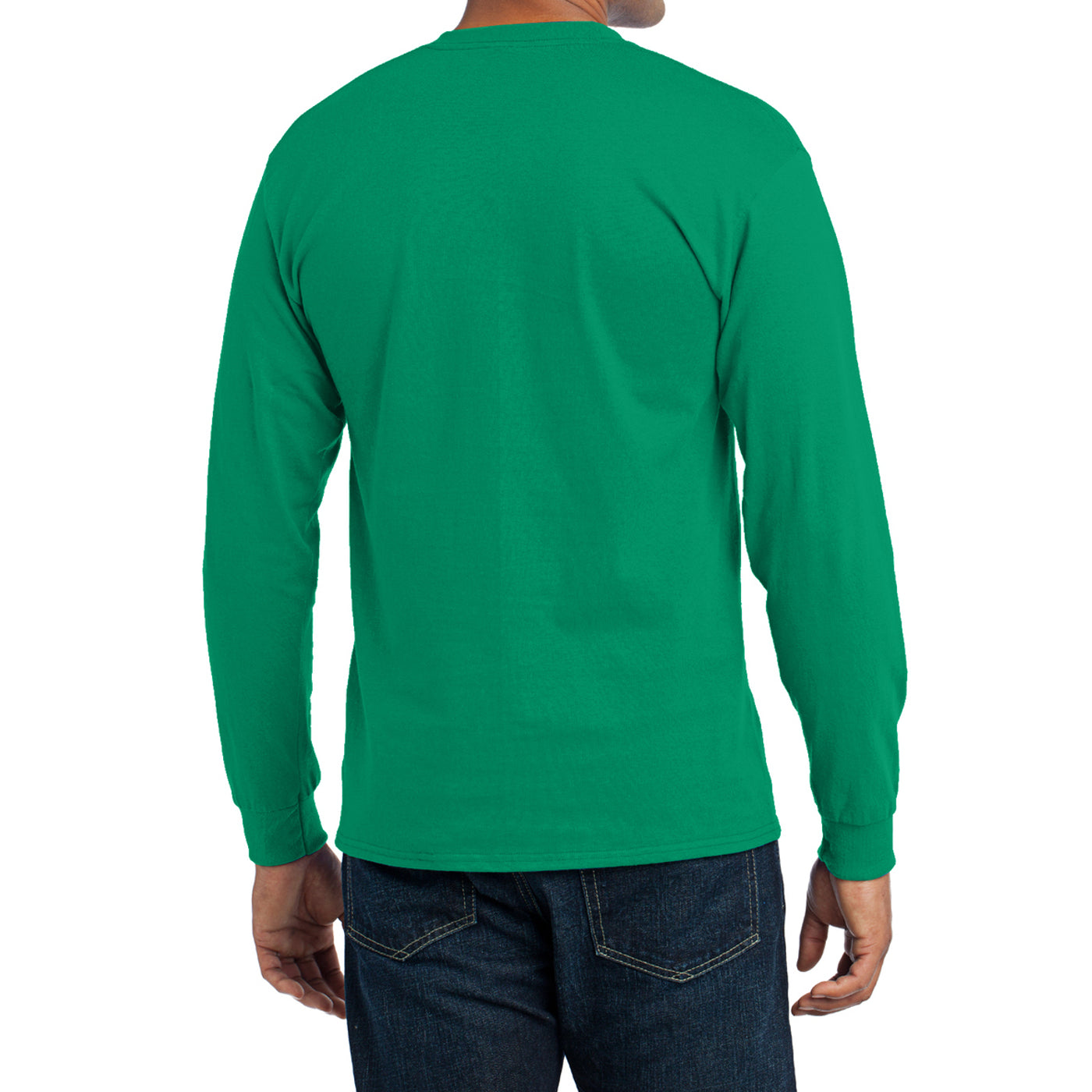 Men's Long Sleeve Core Blend Tee - Kelly – Back