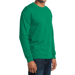 Men's Long Sleeve Core Blend Tee - Kelly – Side