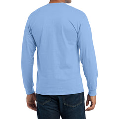 Men's Long Sleeve Core Blend Tee - Light Blue – Back