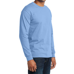 Men's Long Sleeve Core Blend Tee - Light Blue – Side