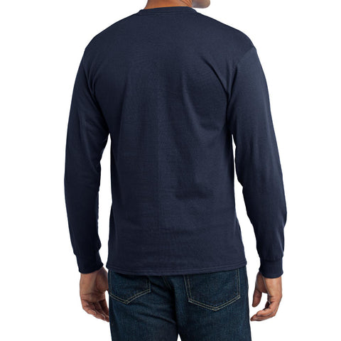 Men's Long Sleeve Core Blend Tee - Navy – Back