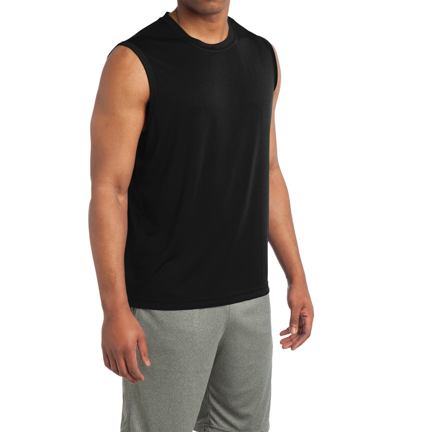Sleeveless PosiCharge Competitor Tee - Black