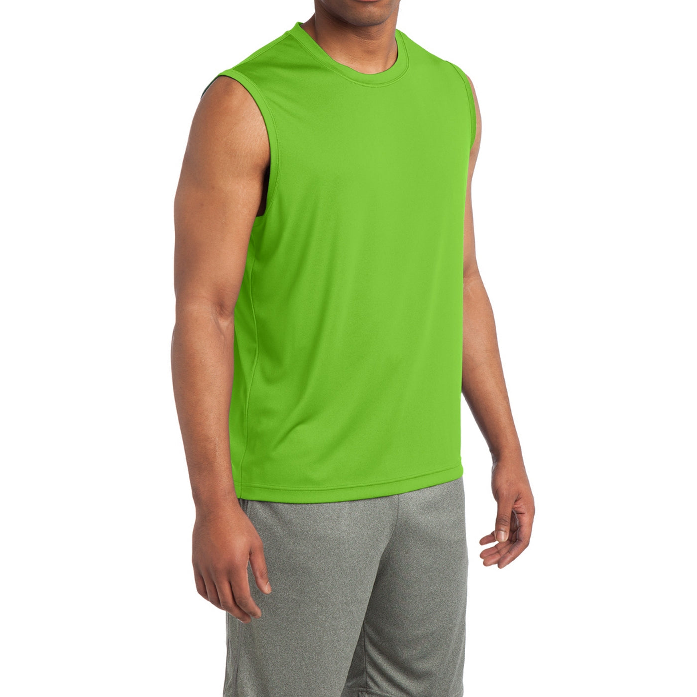 Sleeveless PosiCharge Competitor Tee - Lime Shock