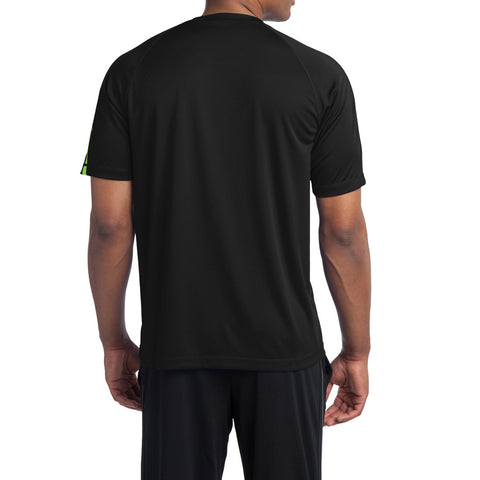 Men's Colorblock PosiCharge Competitor Tee - Black/ Lime Shock
