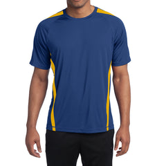 Men's Colorblock PosiCharge Competitor Tee - True Royal/ Gold