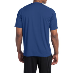 Colorblock PosiCharge Competitor Tee - True Royal/ White