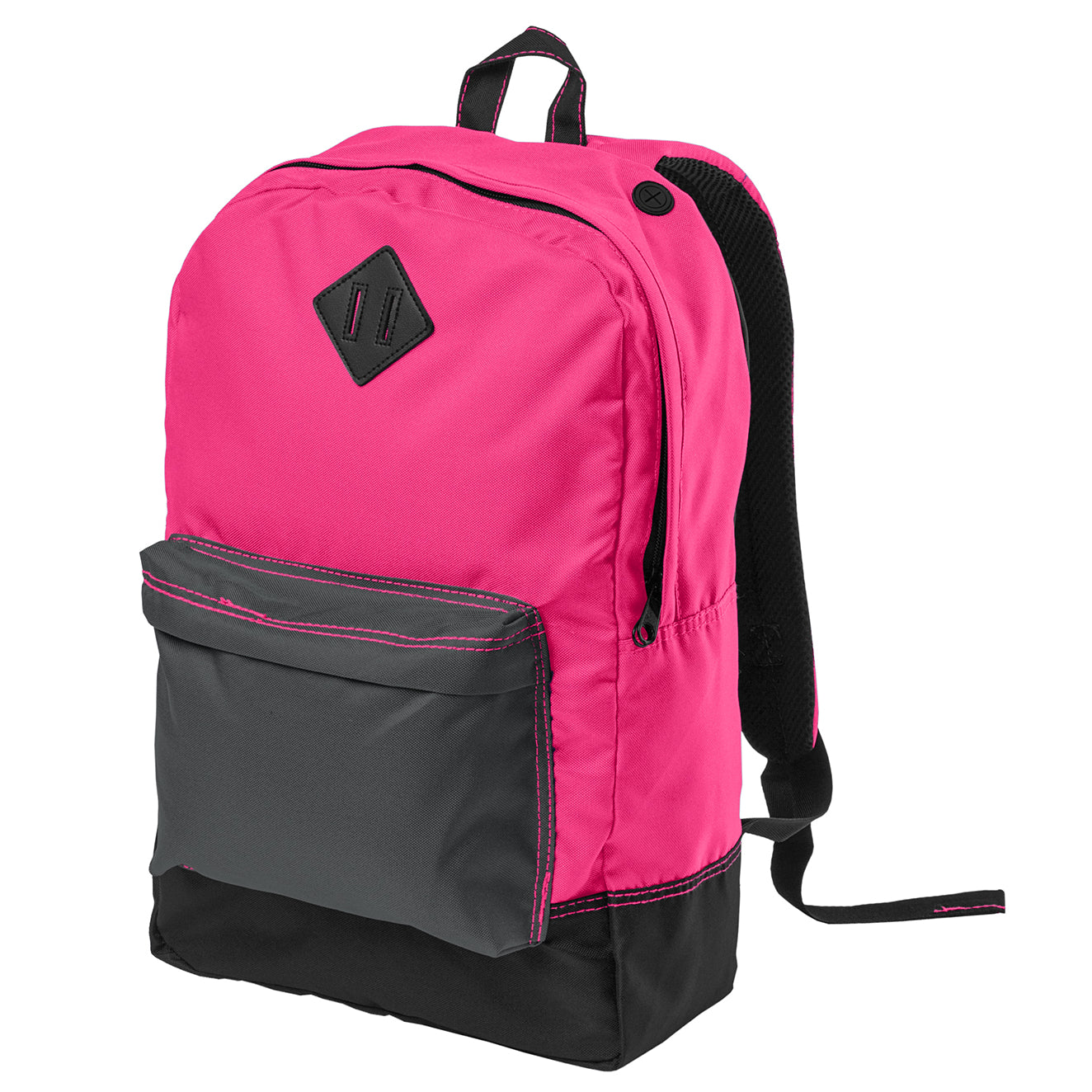 Women's Retro Backpack - Neon Pink