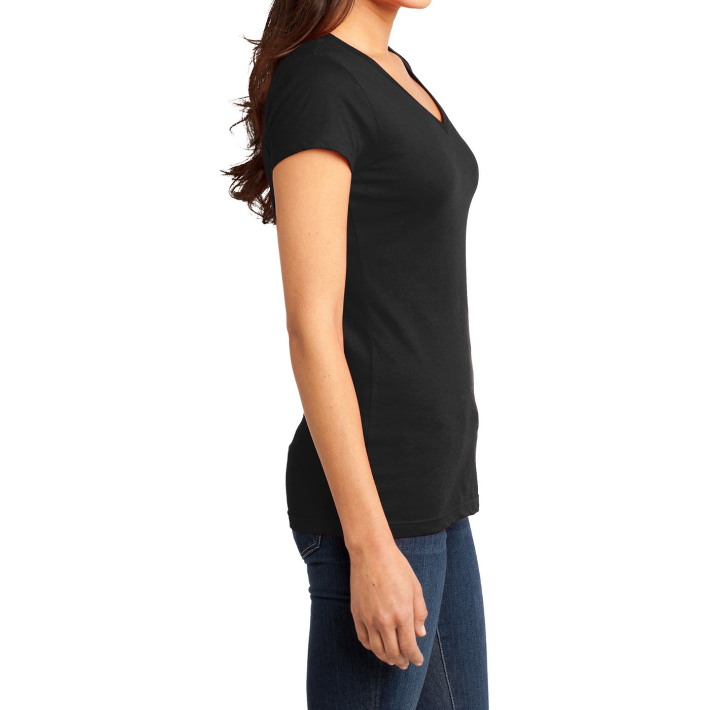 Women's Juniors Very Important Tee V-Neck - Black