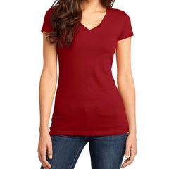 Women's Juniors Very Important Tee V-Neck - Classic Red