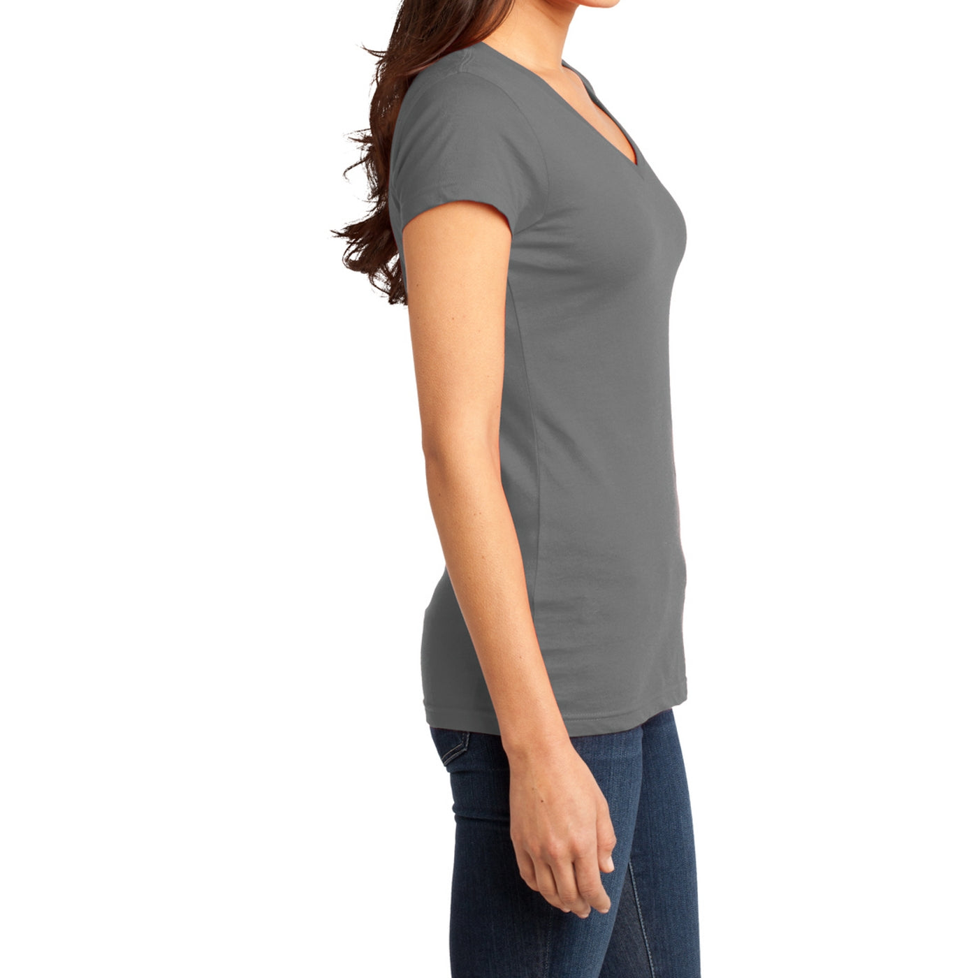 Women's Juniors Very Important Tee V-Neck - Grey