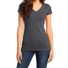 Women's Juniors Very Important Tee V-Neck - Heathered Charcoal