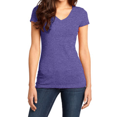 Women's Juniors Very Important Tee V-Neck - Heathered Purple