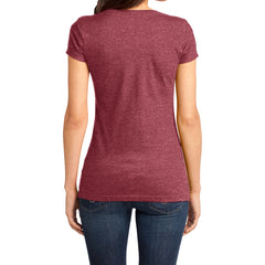 Women's Juniors Very Important Tee V-Neck - Heathered Red