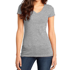 Women's Juniors Very Important Tee V-Neck - Light Heather Grey