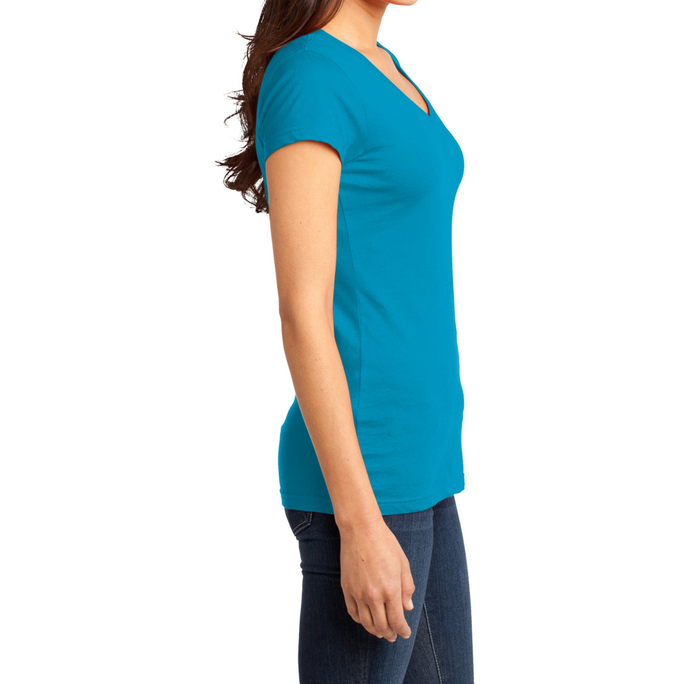 Women's Juniors Very Important Tee V-Neck - Light Turquoise