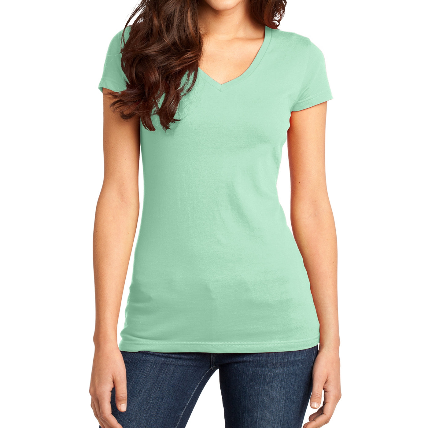 Women's Juniors Very Important Tee V-Neck - Mint