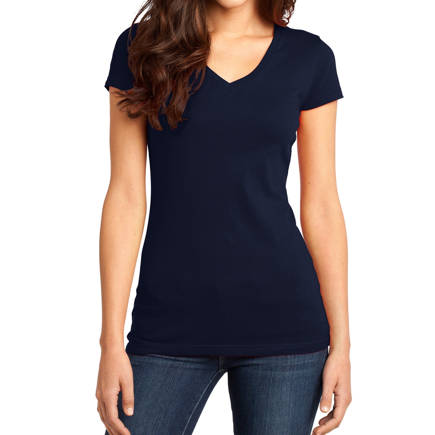 Women's Juniors Very Important Tee V-Neck - New Navy