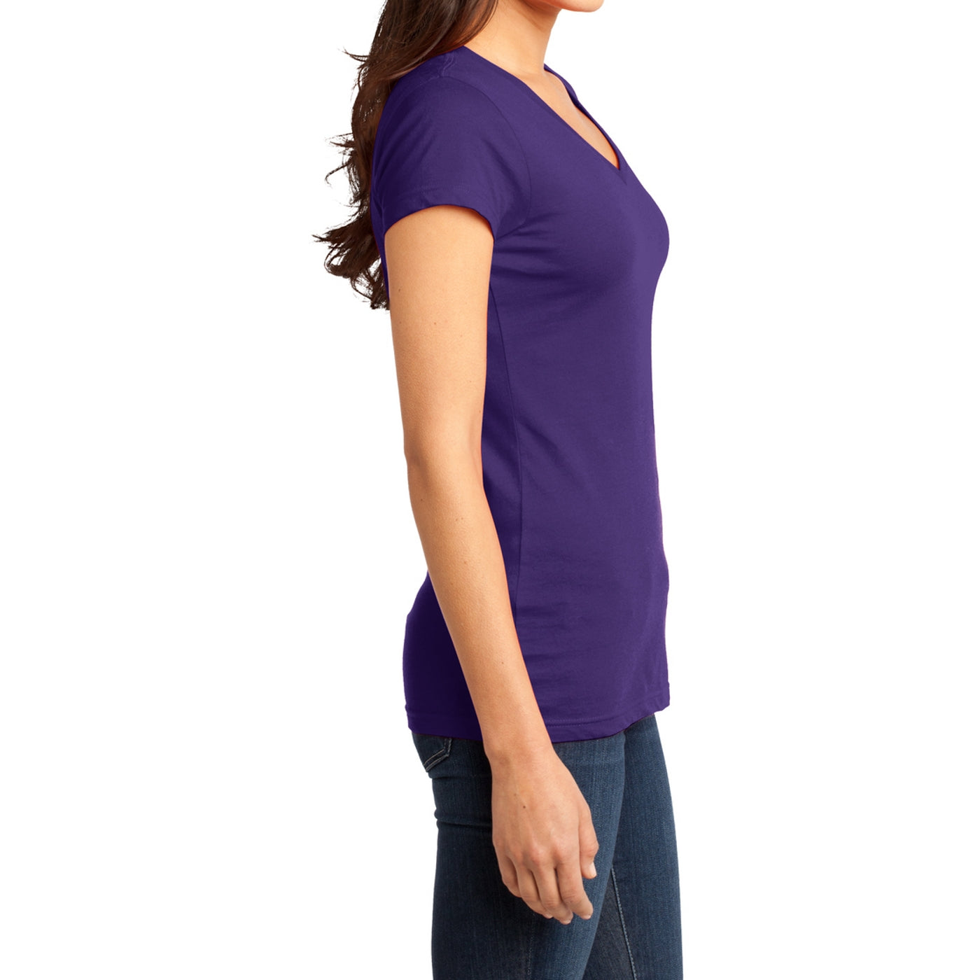 Women's Juniors Very Important Tee V-Neck - Purple