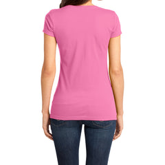 Women's Juniors Very Important Tee V-Neck - True Pink