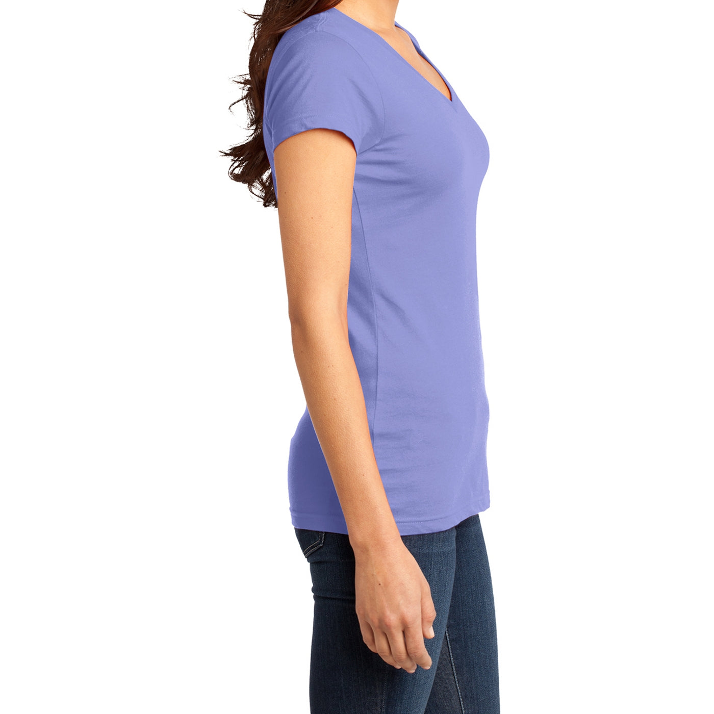 Women's Juniors Very Important Tee V-Neck - True Violet