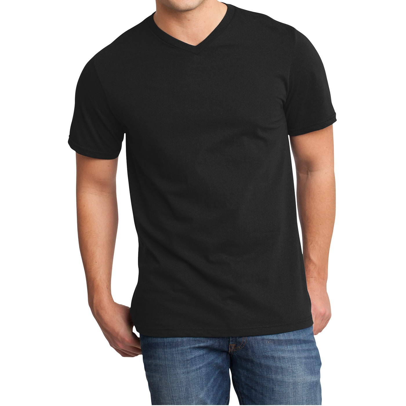 Men's Young  Very Important Tee V-Neck - Black