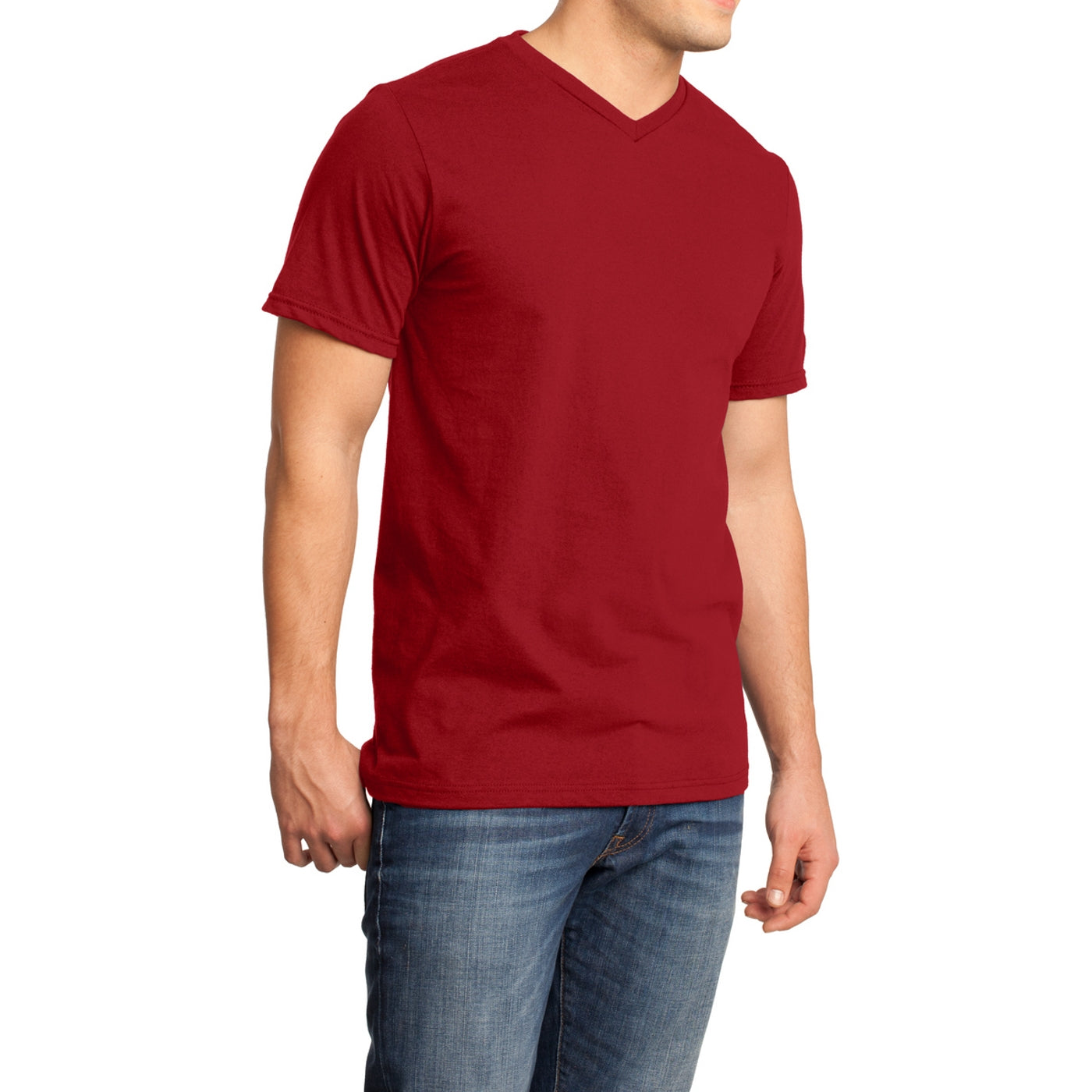 Men's Young  Very Important Tee V-Neck - Classic Red