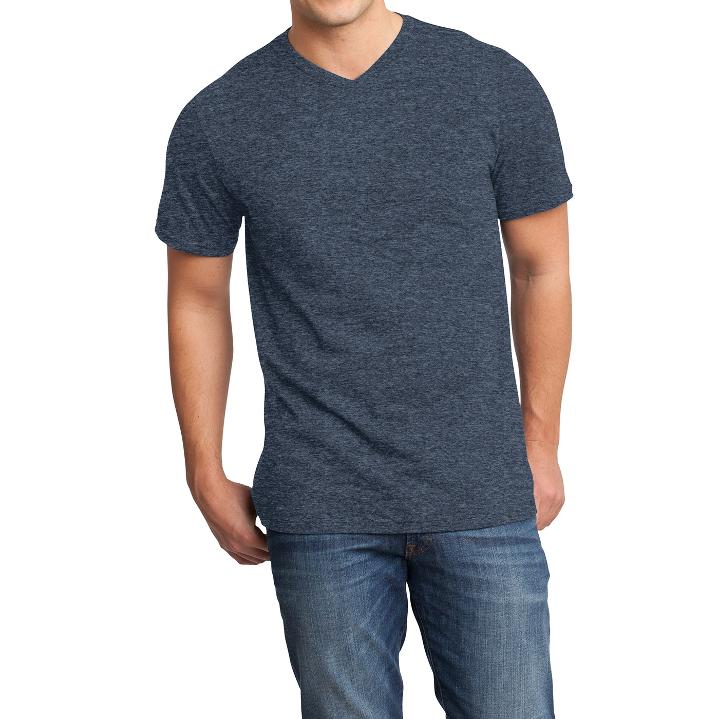 Men's Young  Very Important Tee V-Neck - Heathered Navy