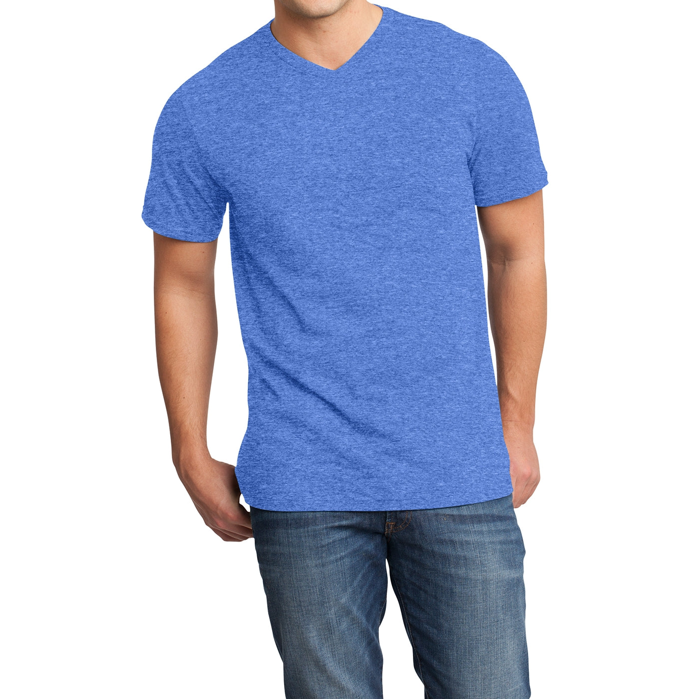 Men's Young  Very Important Tee V-Neck - Heathered Royal