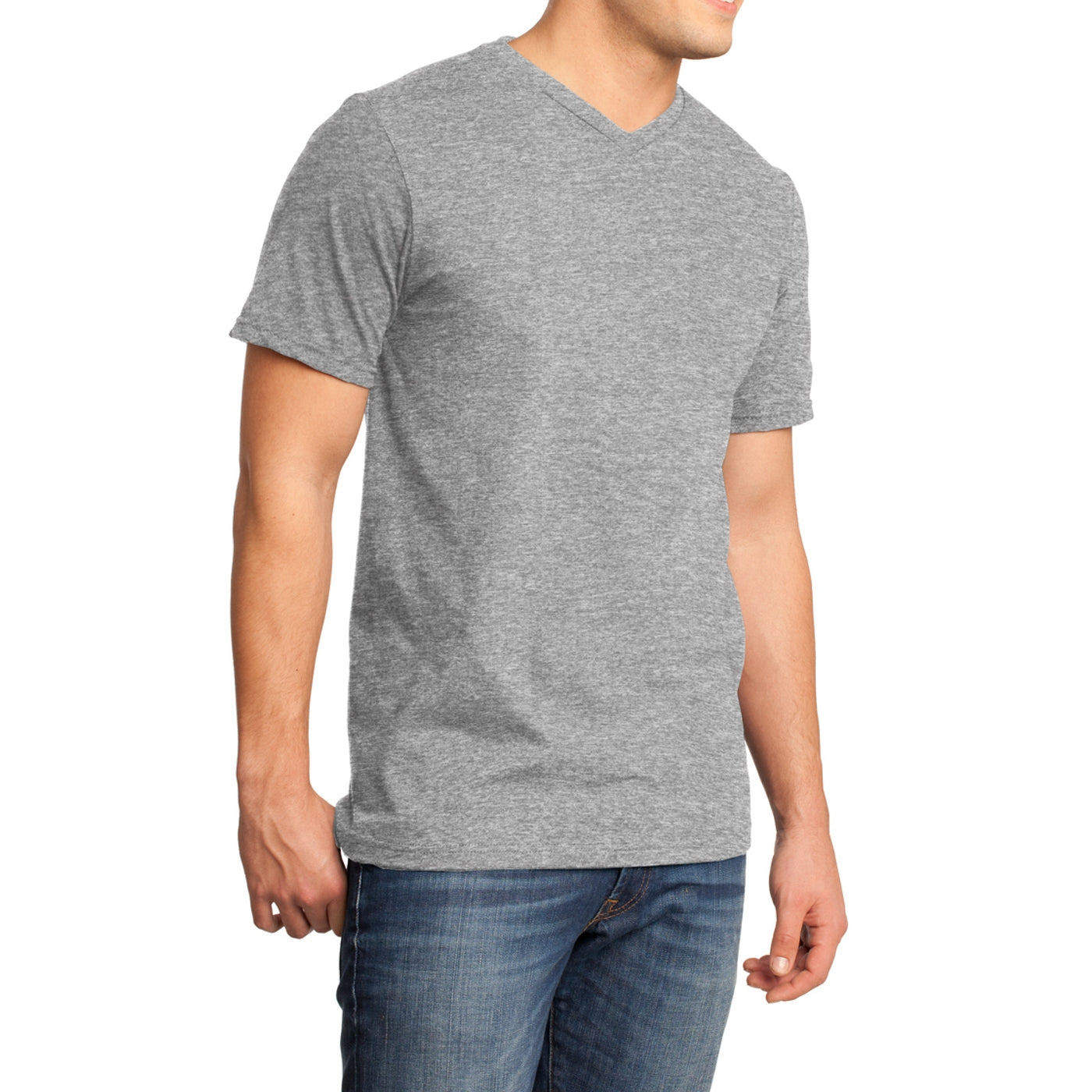 Men's Young  Very Important Tee V-Neck - Light Heather Grey