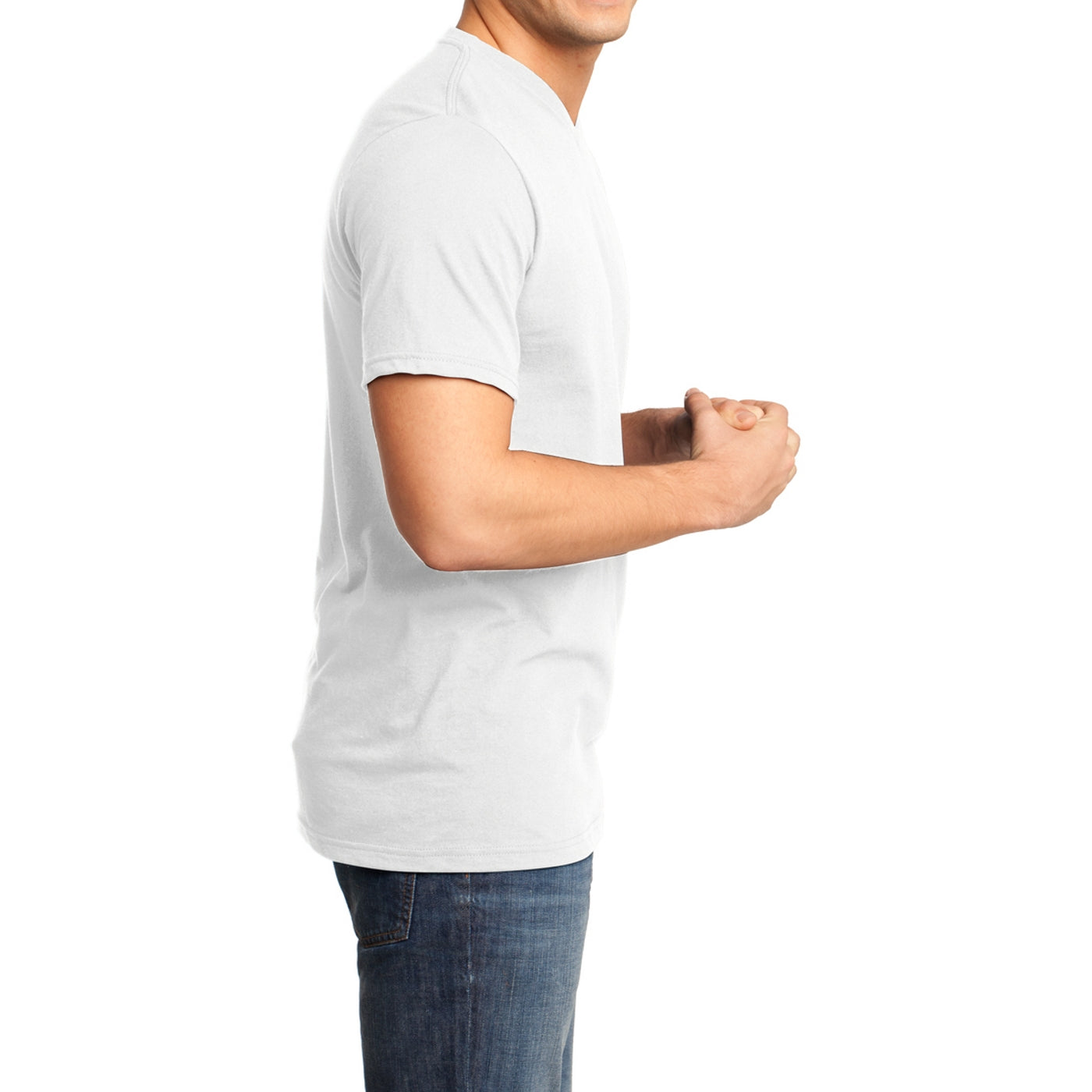 Men's Young  Very Important Tee V-Neck - White