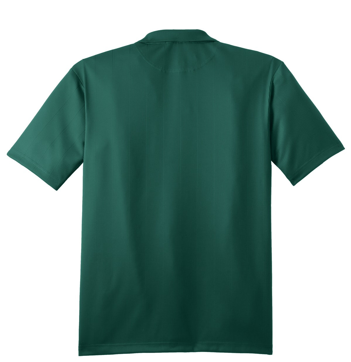 Mafoose Men's Performance Fine Jacquard Polo Green Glen-Back