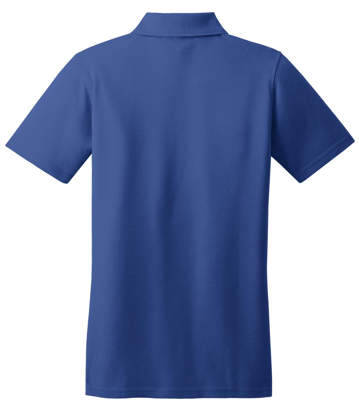 Mafoose Women's Stain Resistant Polo Shirt Royal-Back