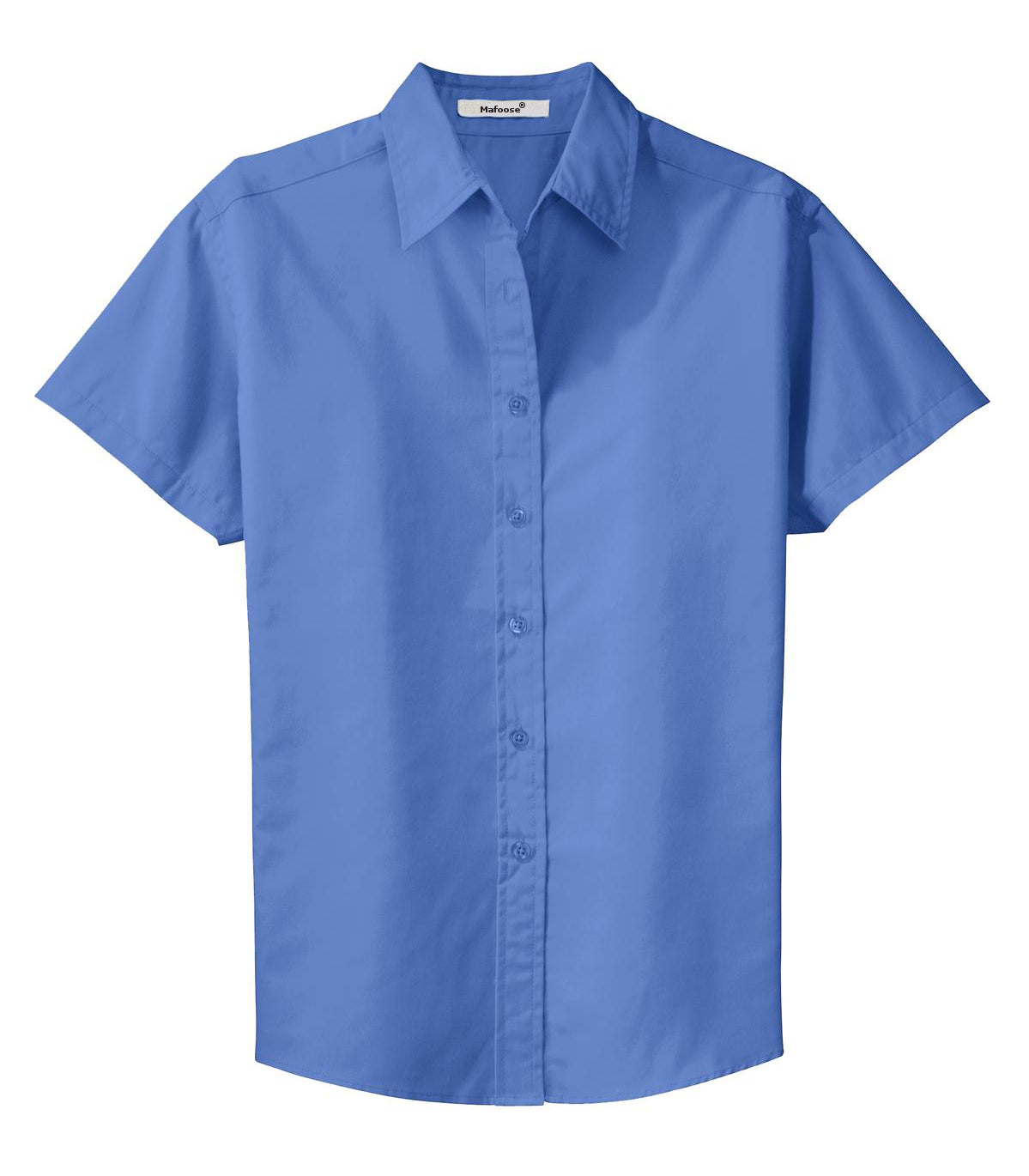 Mafoose Women's Comfortable Short Sleeve Easy Care Shirt Ultramarine Blue-Front