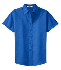 Mafoose Women's Comfortable Short Sleeve Easy Care Shirt Strong Blue-Front