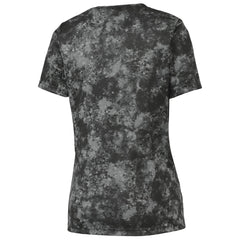 Mafoose Ladies Mineral Freeze Scoop Neck Tee Shirt Black-Back