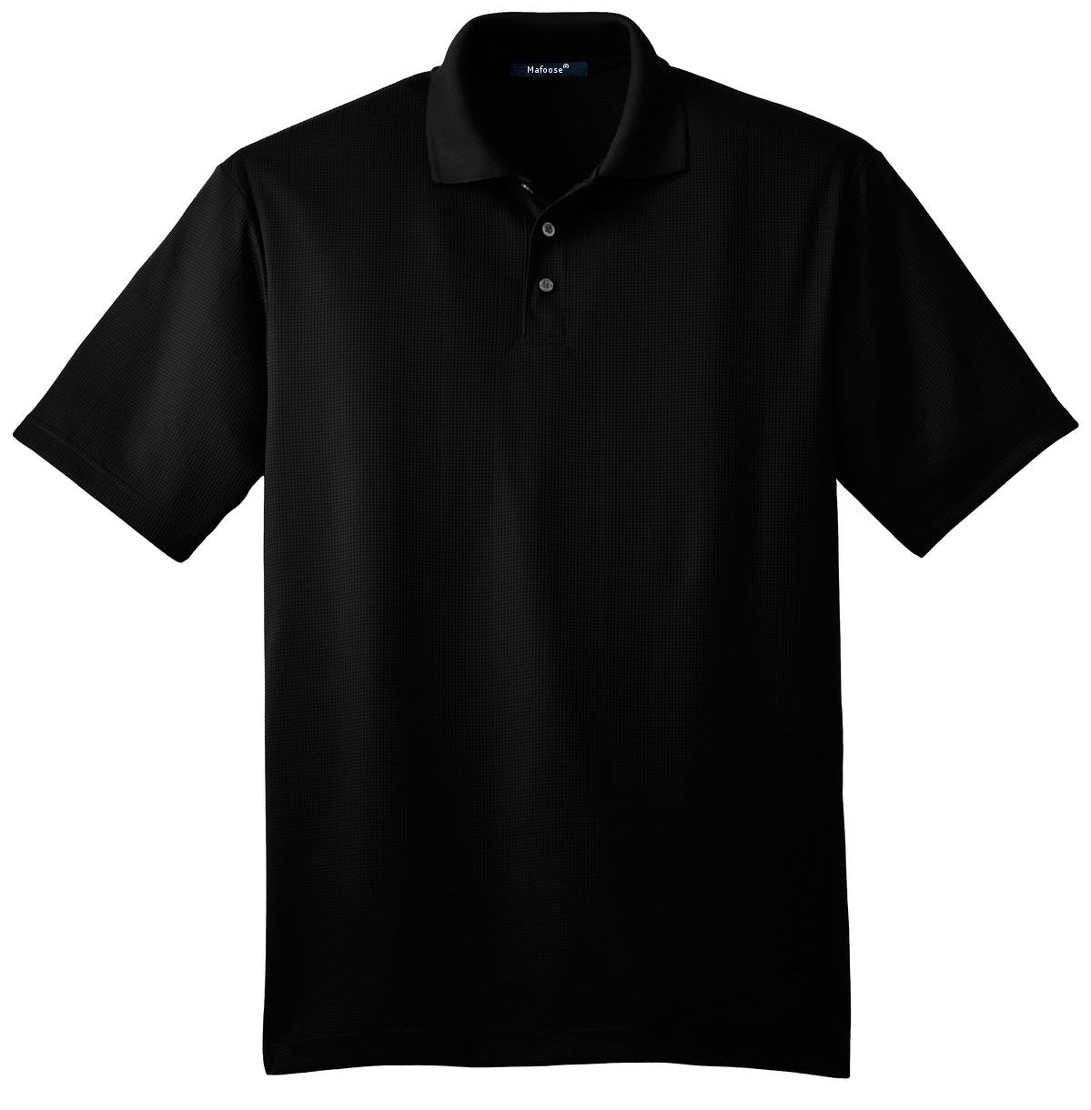 Mafoose Men's Performance Fine Jacquard Polo Black-Front