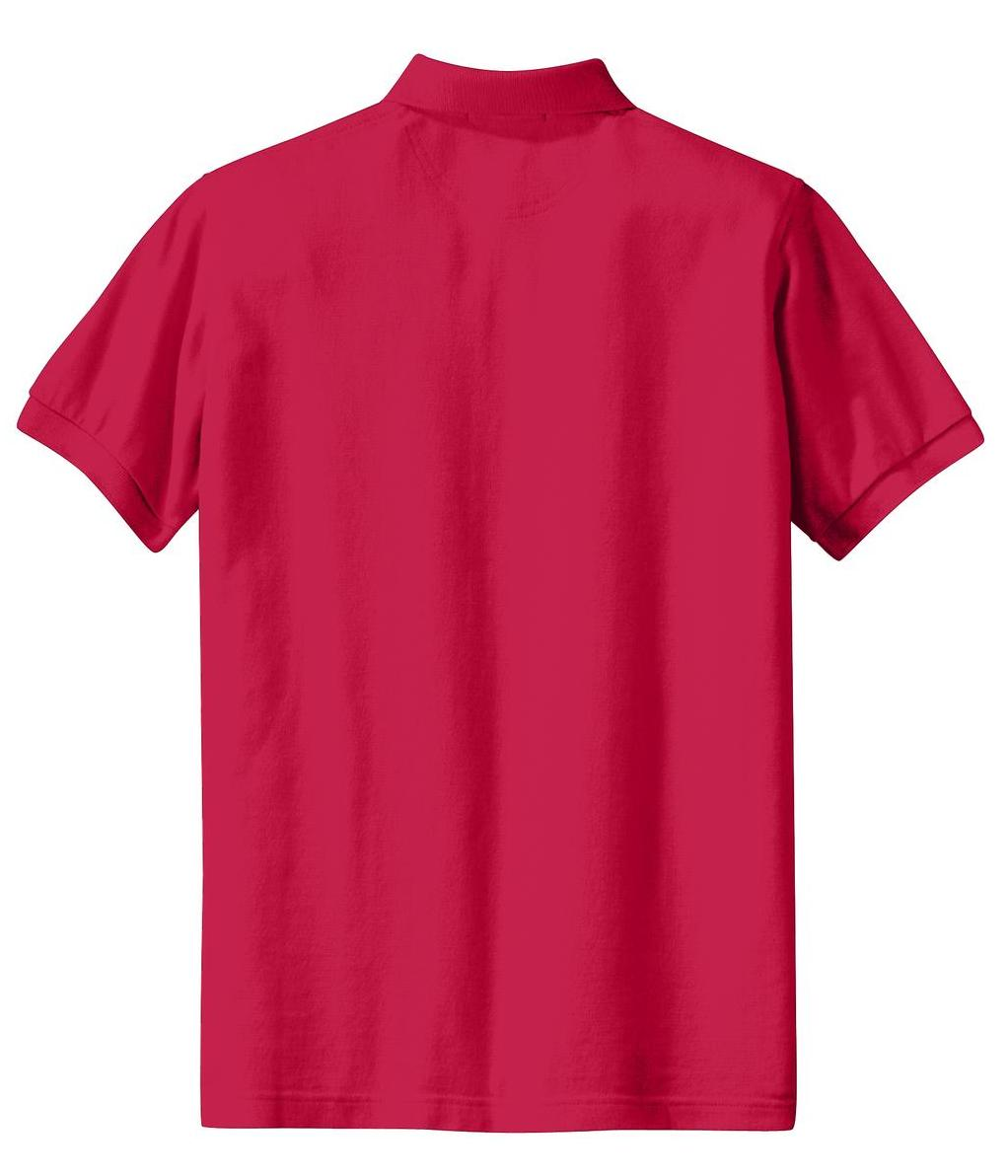 Mafoose Women's Heavyweight Cotton Pique Polo Shirt Red-Back