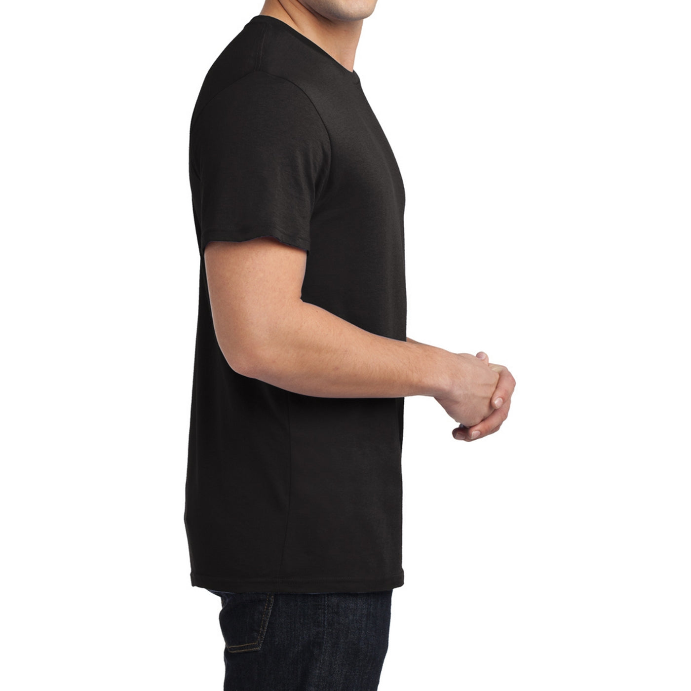 Men's Young  Soft Wash Crew Tee - Black