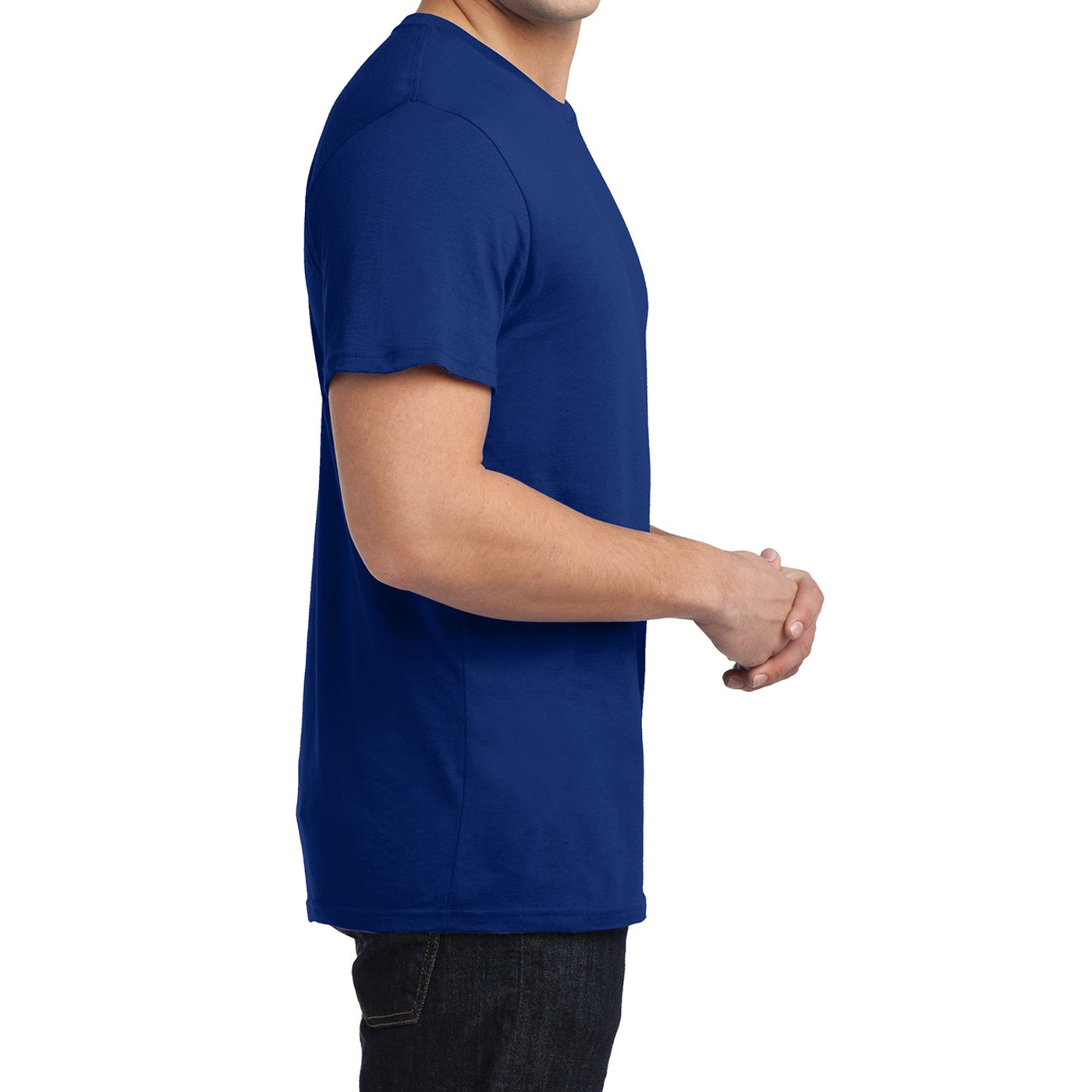 Men's Young  Soft Wash Crew Tee - Deep Royal