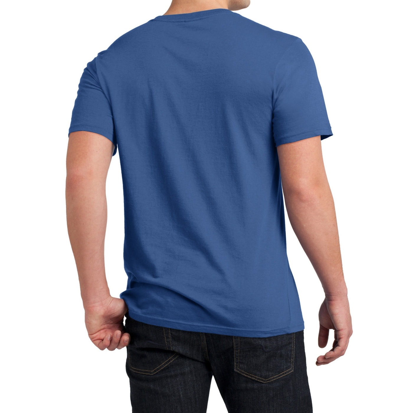 Men's Young  Soft Wash Crew Tee - Maritime Blue