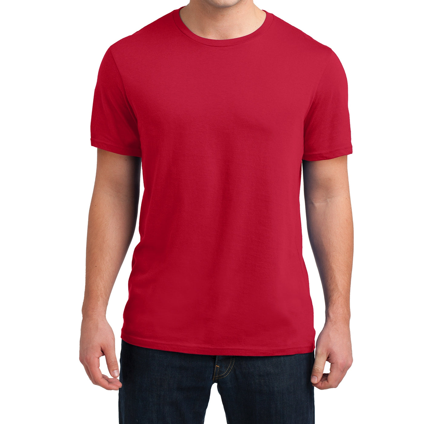 Men's Young  Soft Wash Crew Tee - New Red