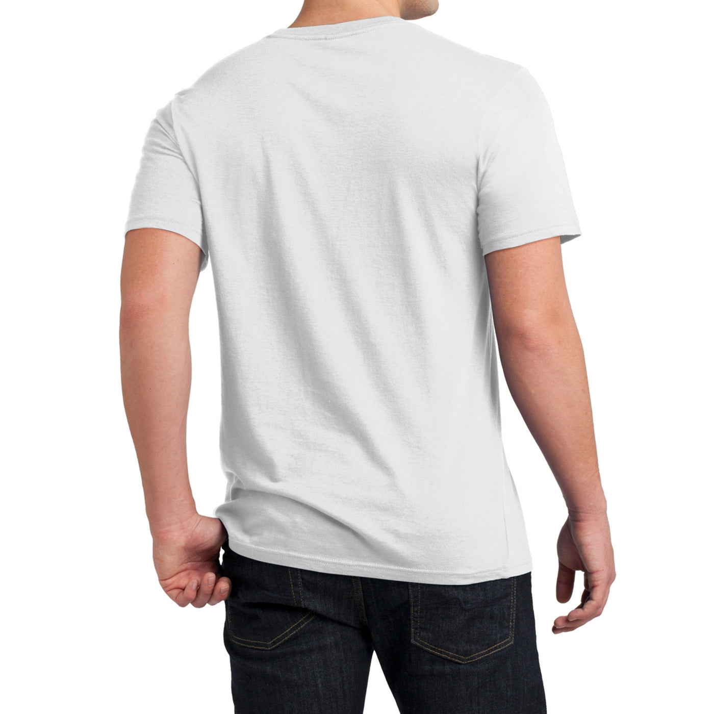 Men's Young  Soft Wash Crew Tee - White