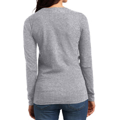 Women's Juniors The Concert Tee Long Sleeve V-Neck - Heather Grey