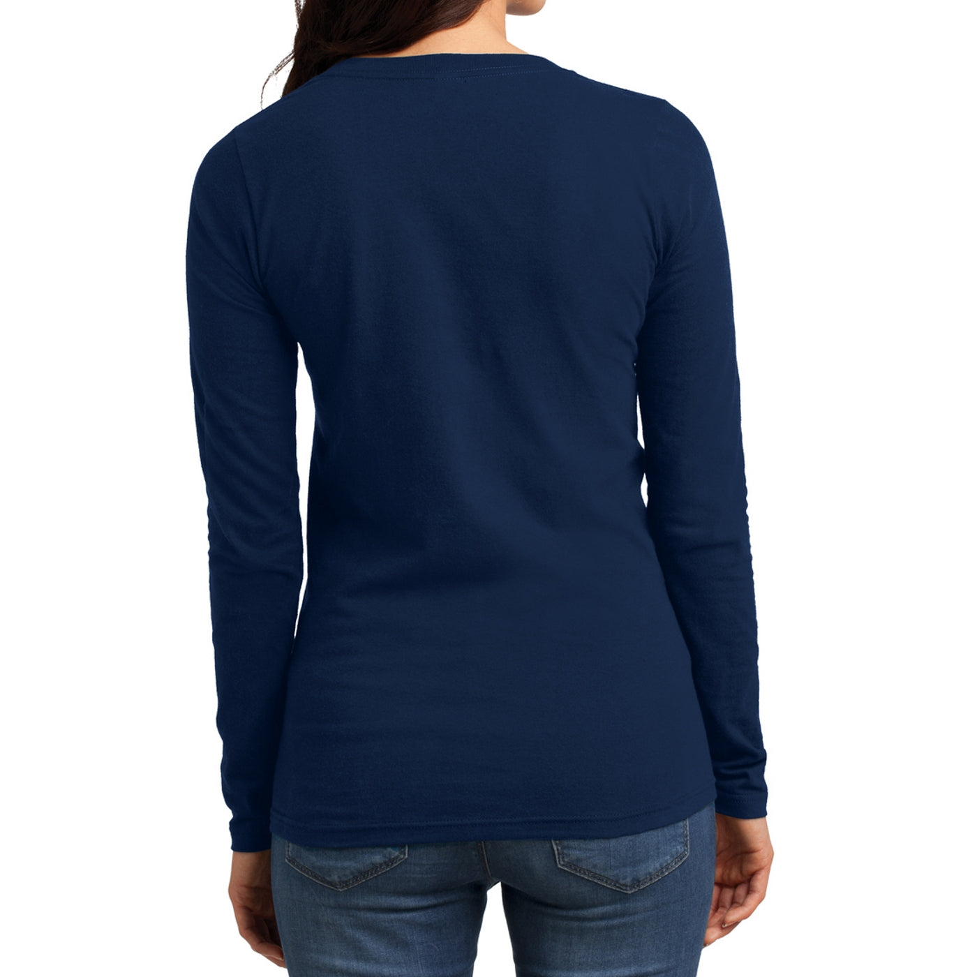 Women's Juniors The Concert Tee Long Sleeve V-Neck - New Navy
