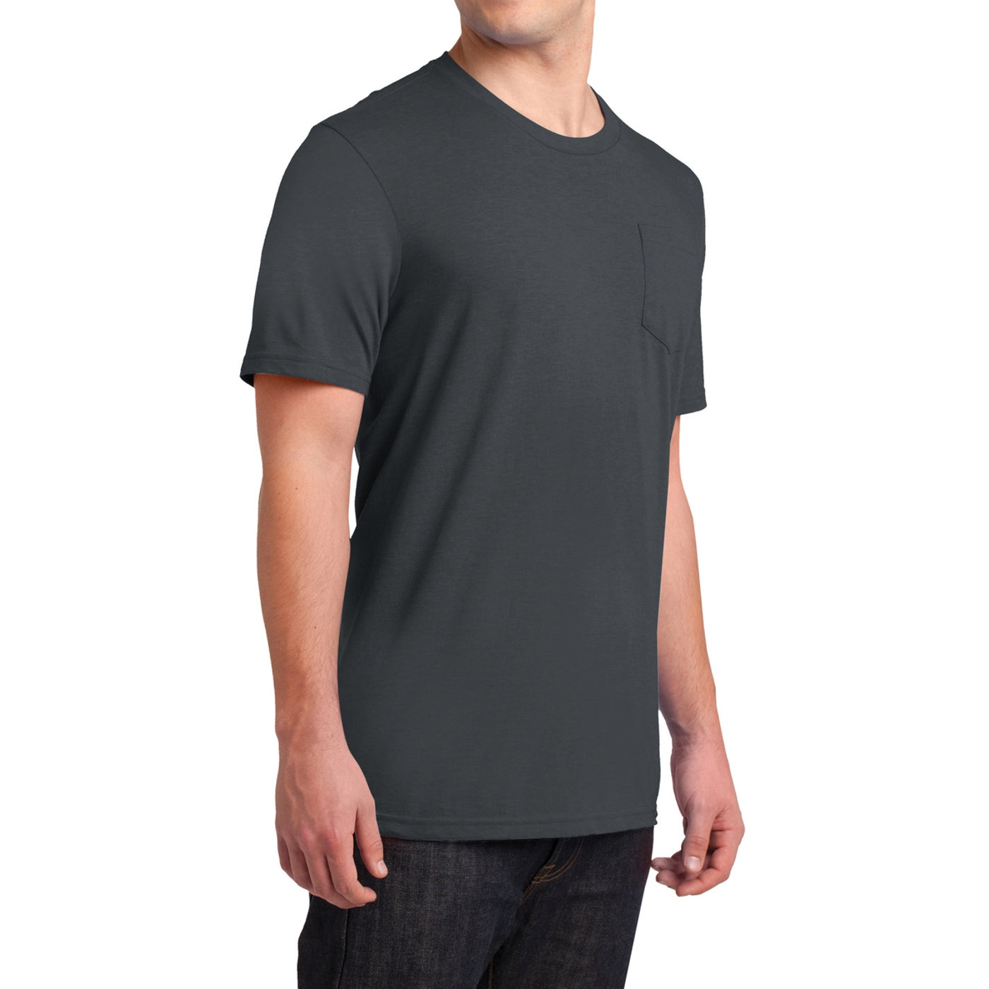 Men's Young Very Important Tee with Pocket - Charcoal