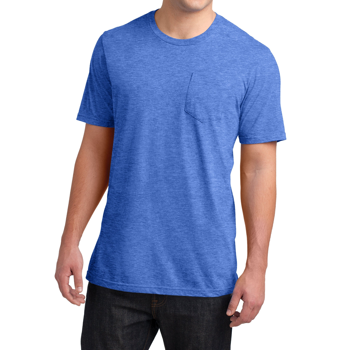 Men's Young Very Important Tee with Pocket - Heathered Royal
