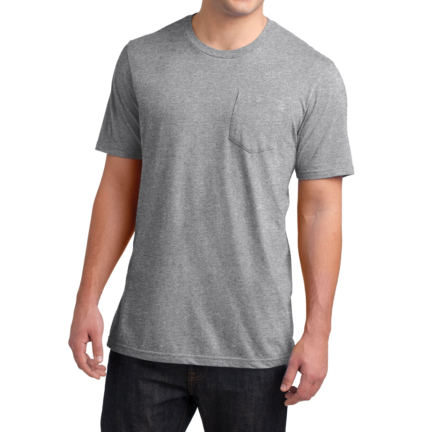 Men's Young Very Important Tee with Pocket - Light Heather Grey