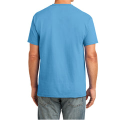 Men's Core Cotton Pocket Tee - Aquatic Blue - Back