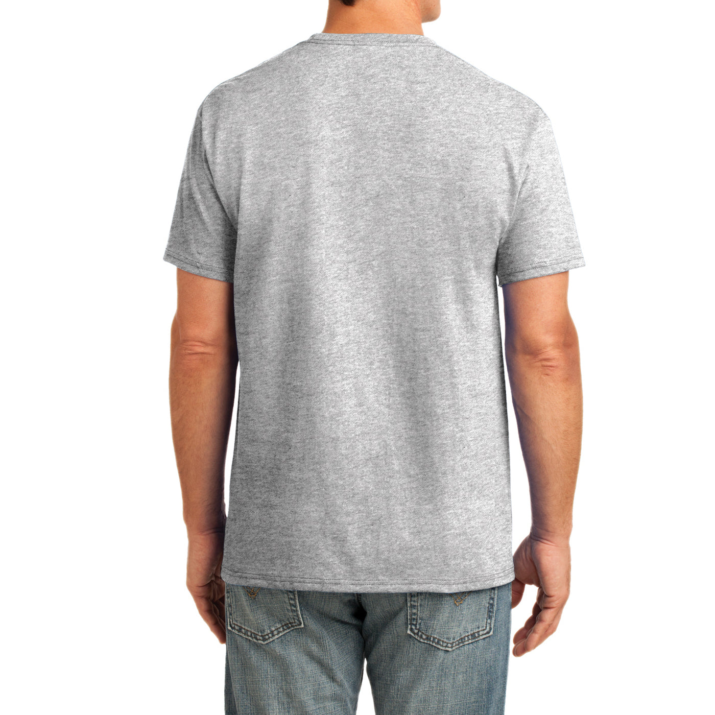 Men's Core Cotton Pocket Tee - Ash - Back