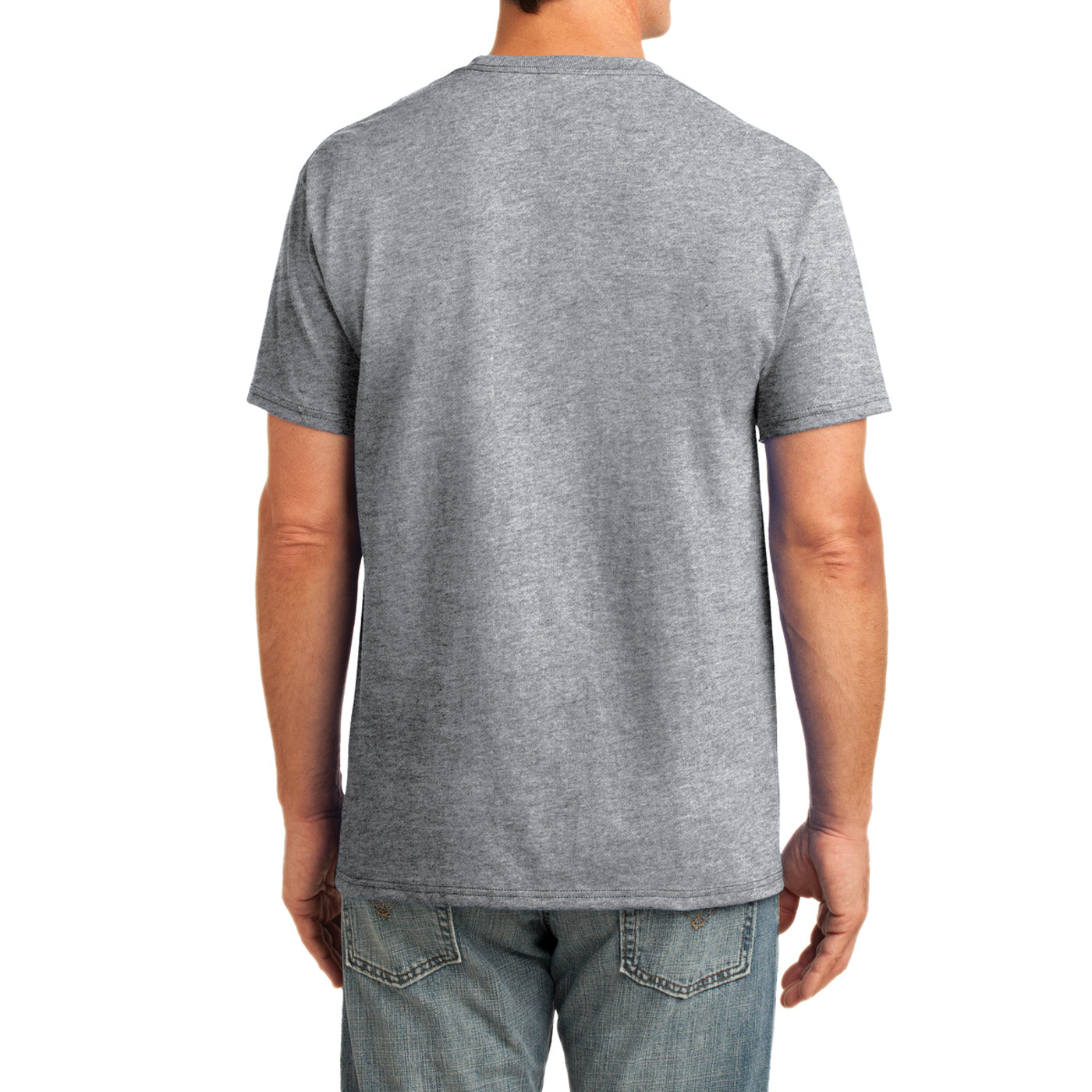 Men's Core Cotton Pocket Tee - Athletic Heather - Back